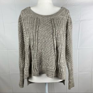 Cable Melbourne Grey Long Sleeve Knit Jumper Sz S